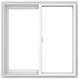 JELD-WEN 36-in x 36-in Builders Series Left-Operable Double-Pane Sliding Window