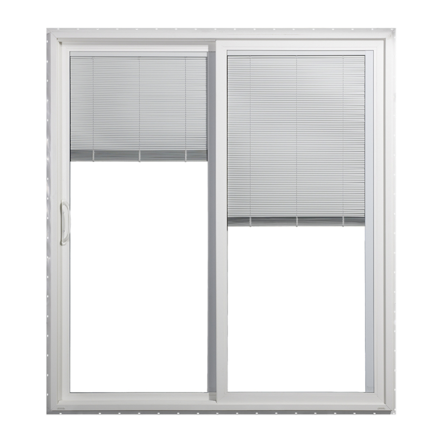 Shop jeld wen 59 5 in blinds between the glass vinyl for Glass patio doors