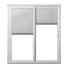 JELD-WEN 71.5-in Dual-Pane Blinds Between The Glass Vinyl Sliding Patio Door