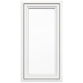 JELD-WEN 24-in x 48-in Premium Series 1-Lite Vinyl Double Pane New Construction Casement Window