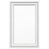 JELD-WEN V4500 1-Lite Vinyl Double Pane Double Strength New Construction Casement Window (Rough Opening: 30-in x 48-in Actual: 29.5-in x 47.5-in)