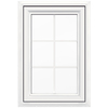 JELD-WEN V4500 1-Lite Vinyl Double Pane Double Strength New Construction Casement Window (Rough Opening: 24-in x 36-in Actual: 23.5-in x 35.5-in)