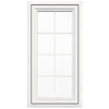 JELD-WEN V4500 1-Lite Vinyl Double Pane Double Strength New Construction Casement Window (Rough Opening: 24-in x 48-in Actual: 23.5-in x 47.5-in)