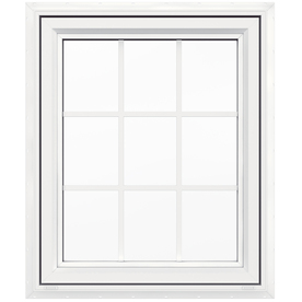 JELD-WEN 30-in x 36-in Premium Series 1-Lite Vinyl Double Pane New Construction Casement Window