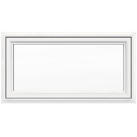 JELD-WEN V4500 Single Vinyl Double Pane Double Strength New Construction Awning Window (Rough Opening: 48-in x 24-in; Actual: 47.5-in x 23.5-in)