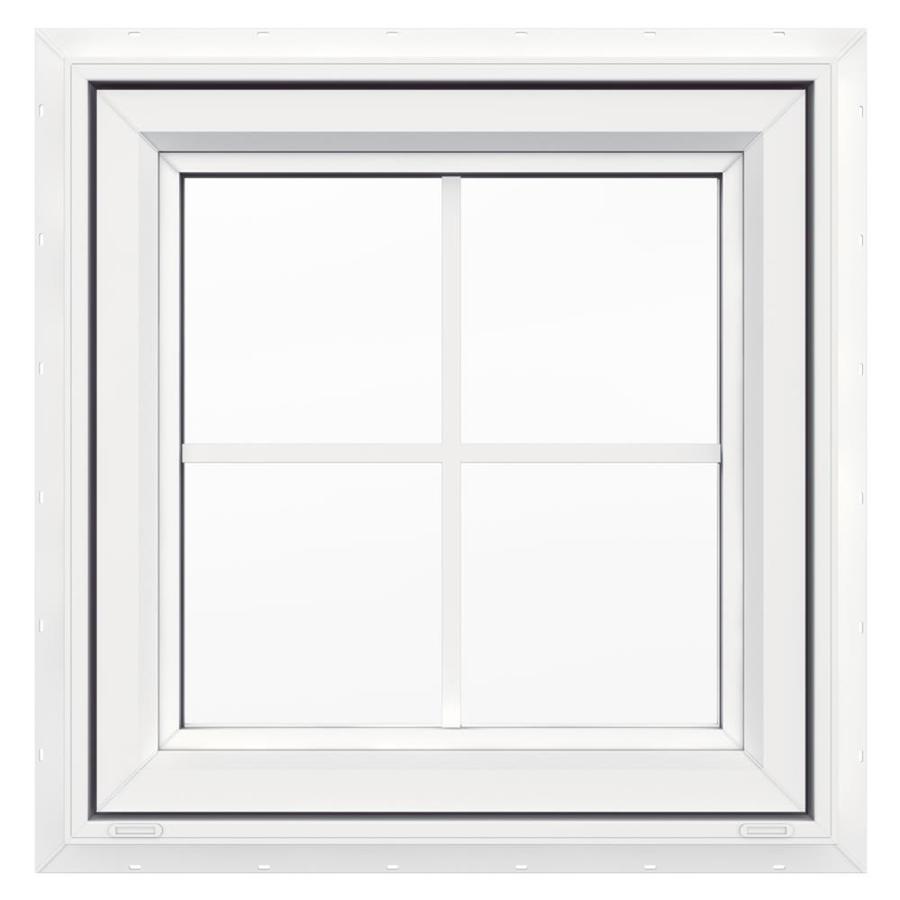 Shop jeld wen 24 in x 24 in v4500 series single vinyl for Double pane vinyl windows