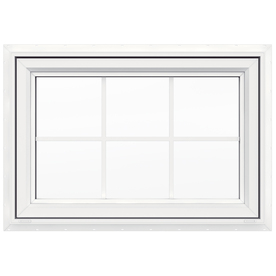 JELD-WEN 36-in x 24-in Premium Series Single Vinyl Double Pane New Construction Awning Window