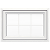 JELD-WEN V4500 Single Vinyl Double Pane Double Strength New Construction Awning Window (Rough Opening: 36-in x 24-in; Actual: 35.5-in x 23.5-in)