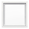 JELD-WEN 24-in x 24-in Premium White Double Pane Square Fixed Geometric Window