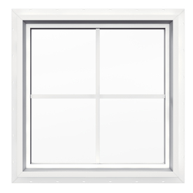 Shop JELD-WEN 24-in x 24-in V4500 Double Pane Double Strength Square ...