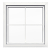 JELD-WEN 24-in x 24-in Premium Series White Double Pane Square New Construction Fixed Geometric Window