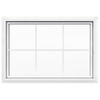 JELD-WEN 36-in x 24-in Premium White Double Pane Rectangular Fixed Geometric Window
