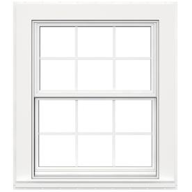 JELD-WEN V4500 Vinyl Double Pane Double Strength New Construction Double Hung Window (Rough Opening: 32-in x 38-in Actual: 31.5-in x 37.5-in)
