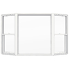 JELD-WEN 82-1/2-in x 51-1/2-in Builders Series Single-Hung Vinyl Double Pane Bay Window