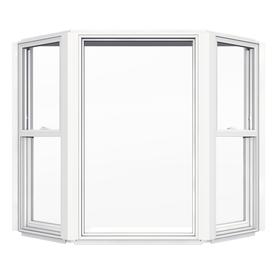 Shop jeld wen v2500 single hung vinyl double pane double for Box bay windows for sale