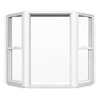 JELD-WEN 55-7/8-in x 49-1/2-in Builders Series Single-Hung Vinyl Double Pane Bay Window