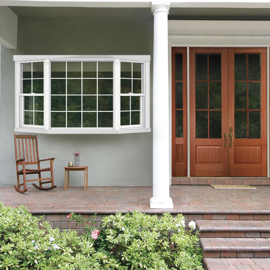 Shop jeld wen 82 5 in x 51 5 in v2500 series single hung for 1 x 3 window