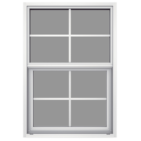 JELD-WEN 26-in x 37-5/8-in Builders Aluminum Series Aluminum Single Pane New Construction Single Hung Window