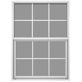 JELD-WEN 36-1/2-in x 37-5/8-in Builders Aluminum Series Single Pane Single Hung Window