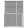 JELD-WEN 36-1/2-in x 37-5/8-in Builders Aluminum Series Aluminum Single Pane New Construction Single Hung Window