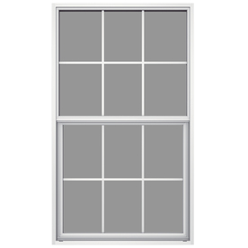 JELD-WEN 36-1/2-in x 49-7/8-in Builders Aluminum Series Aluminum Single Pane New Construction Single Hung Window