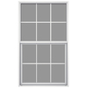 JELD-WEN Builders Aluminum Single Pane Annealed New Construction Single Hung Window (Rough Opening: 36.5-in x 49.875-in; Actual: 36-in x 49.625-in)