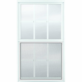 JELD-WEN 36-1/2-in x 62-1/4-in Builders Aluminum Series Aluminum Single Pane New Construction Single Hung Window