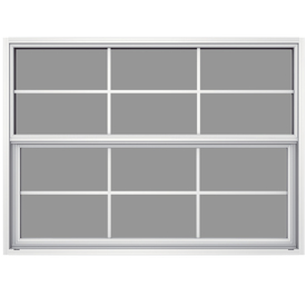 JELD-WEN 52-5/8-in x 37-5/8-in Builders Aluminum Series Single Pane Single Hung Window
