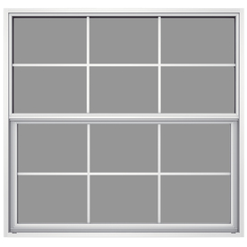JELD-WEN 52-5/8-in x 49-7/8-in Builders Aluminum Series Single Pane Single Hung Window