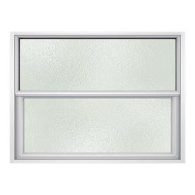 JELD-WEN Premium Atlantic Aluminum Single Pane Impact New Construction Single Hung Window (Rough Opening: 36.5-in x 25.25-in; Actual: 36-in x 25-in)