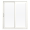 JELD-WEN V-4500 71.5-in 1-Lite Glass Vinyl Sliding Patio Door with Screen