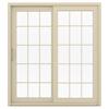 JELD-WEN V-4500 71.5-in 15-Lite Glass Vinyl Sliding Patio Door with Screen