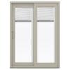 JELD-WEN 59.5-in Blinds Between the Glass Vinyl Sliding Patio Door with Screen