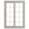 JELD-WEN V-4500 59.5-in 10-Lite Glass Vinyl Sliding Patio Door with Screen