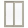 JELD-WEN V-4500 59.5-in 1-Lite Glass Vinyl Sliding Patio Door with Screen