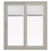 JELD-WEN 71.5-in Blinds Between the Glass Vinyl Sliding Patio Door with Screen