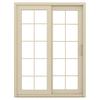 JELD-WEN V-4500 59.5-in 10-Lite Glass Vinyl Sliding Patio Door with Screen