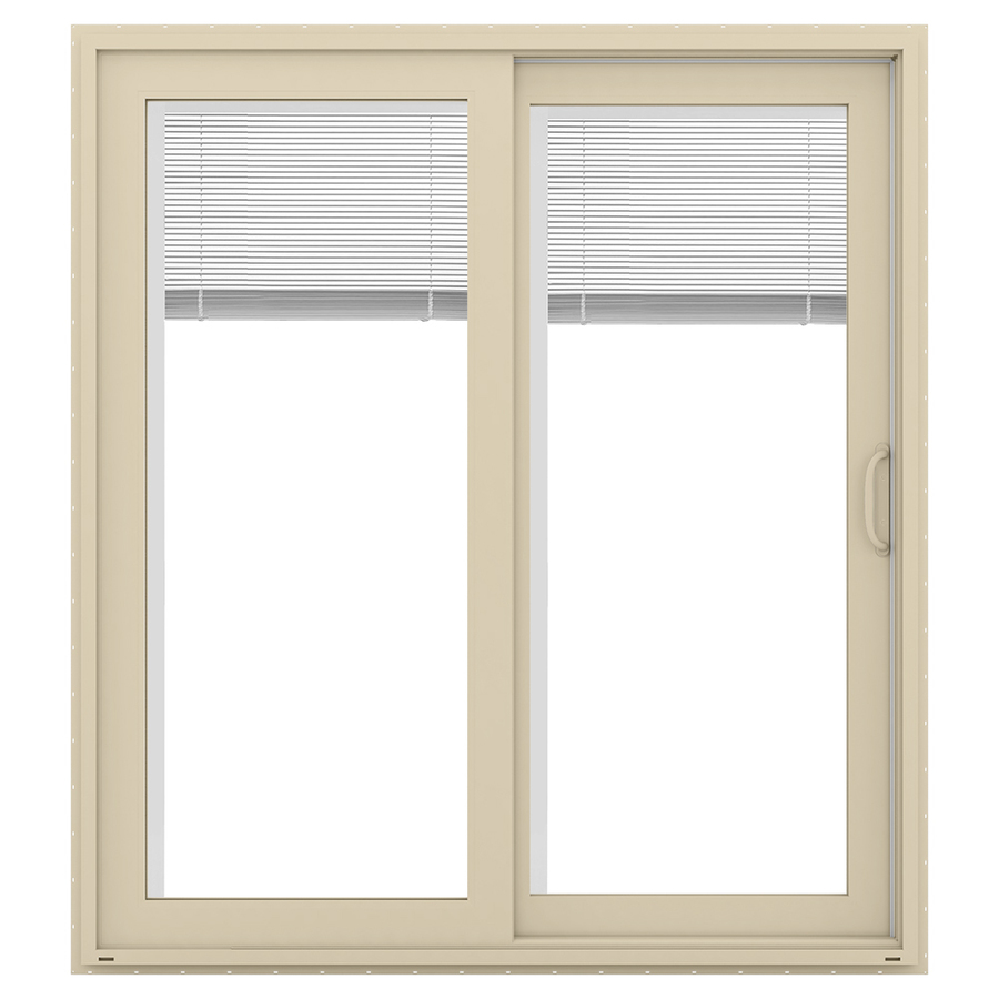 Shop jeld wen v 4500 71 5 in blinds between the glass for Lowes sliding glass doors