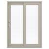JELD-WEN V-4500 59.5-in 1-Lite Glass Desert Sand Vinyl Sliding Patio Door with Screen