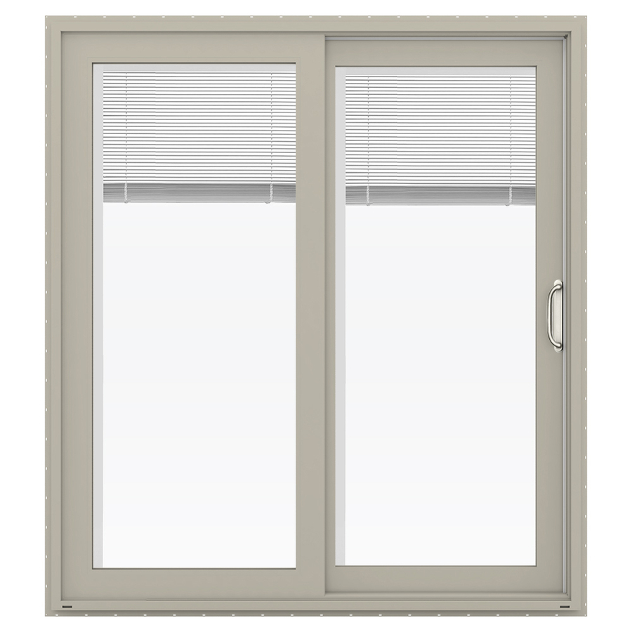 ... Blinds Between the Glass Vinyl Sliding Patio Door with Screen at Lowes