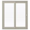 JELD-WEN V-4500 71.5-in 1-Lite Glass Desert Sand Vinyl Sliding Patio Door with Screen