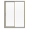 JELD-WEN 59.5-in 1-Lite Glass Vinyl Sliding Patio Door with Screen
