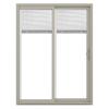 JELD-WEN V-2500 59.5-in Blinds Between the Glass  Vinyl Sliding Patio Door with Screen