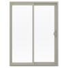 JELD-WEN 59.5-in 1-Lite Glass Vinyl Sliding Patio Door with Screen
