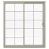 JELD-WEN V-2500 71.5-in 10-Lite Glass  Vinyl Sliding Patio Door with Screen