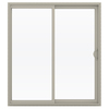 JELD-WEN 71.5-in 1-Lite Glass Vinyl Sliding Patio Door with Screen