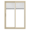 JELD-WEN V-2500 59.5-in Blinds Between the Glass  Vinyl Sliding Patio Door with Screen