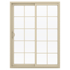 JELD-WEN V-2500 59.5-in 10-Lite Glass  Vinyl Sliding Patio Door with Screen