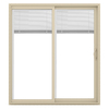 JELD-WEN V-2500 71.5-in Blinds Between the Glass  Vinyl Sliding Patio Door with Screen
