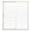 JELD-WEN V-2500 71.5-in 10-Lite Glass  Vinyl Sliding Patio Door with Screen